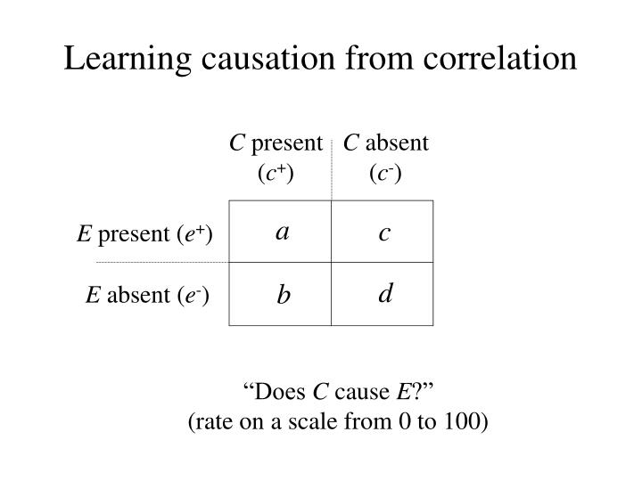 Learning causation from correlation
