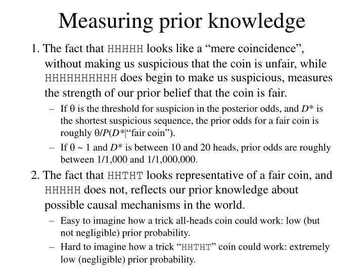 Measuring prior knowledge