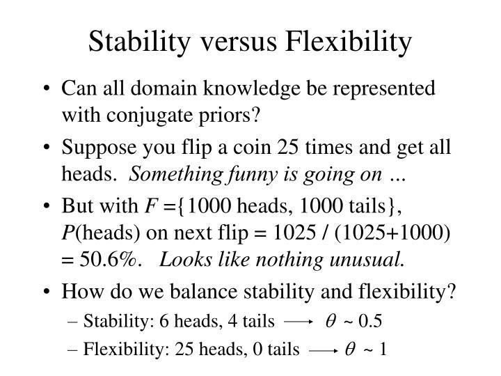 Stability versus Flexibility