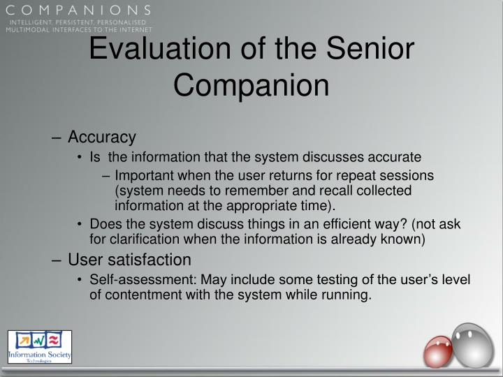 Evaluation of the Senior Companion