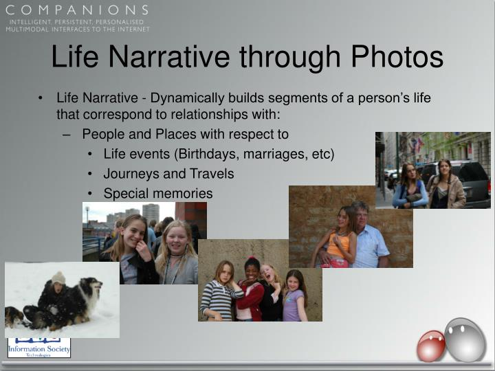 Life Narrative through Photos