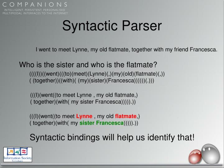 Syntactic Parser