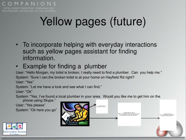 Yellow pages (future)