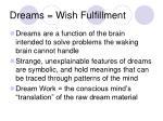 dreams wish fulfillment