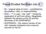 freud divided the brain into 3