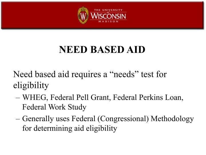 NEED BASED AID
