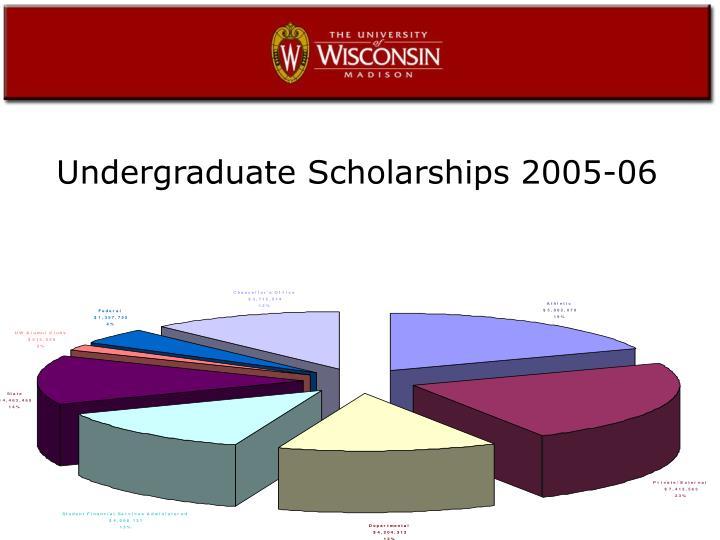 Undergraduate Scholarships 2005-06