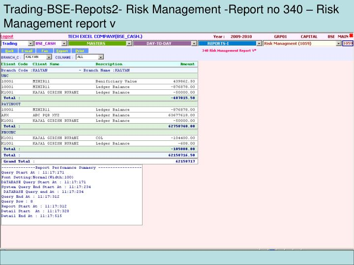 Trading-BSE-Repots2- Risk Management -Report no 340 – Risk Management report v