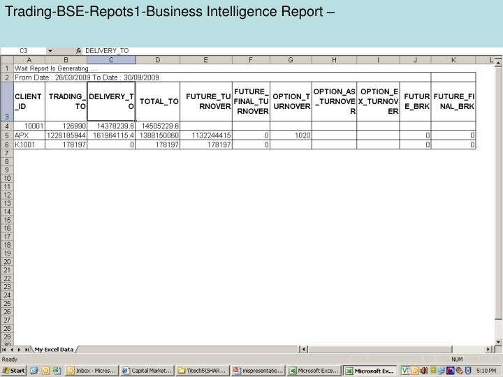 Trading-BSE-Repots1-Business Intelligence Report –