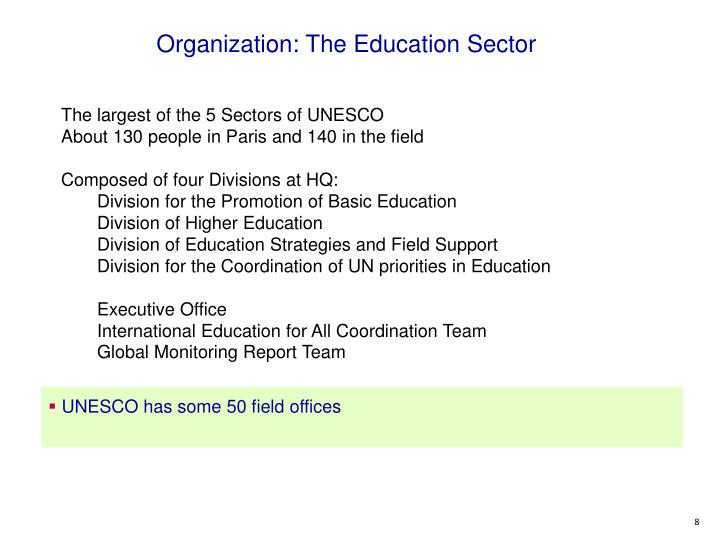 Organization: The Education Sector