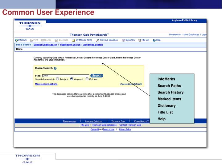 Common User Experience