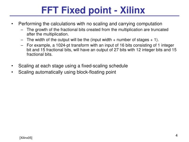 FFT Fixed point - Xilinx