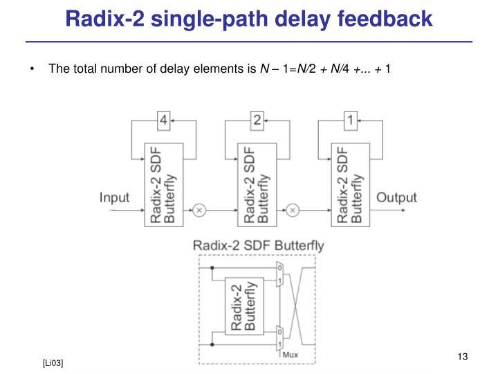 Radix-2 single-path delay feedback
