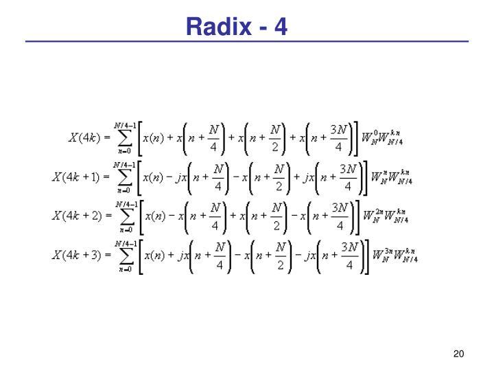 Radix - 4