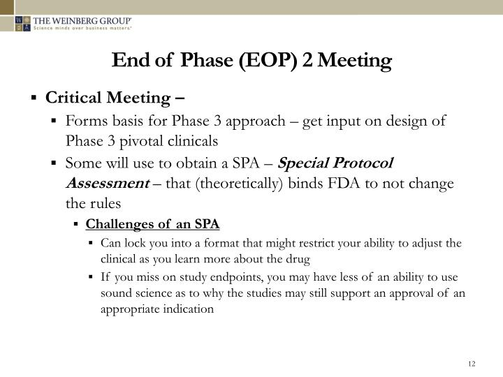 End of Phase (EOP) 2 Meeting