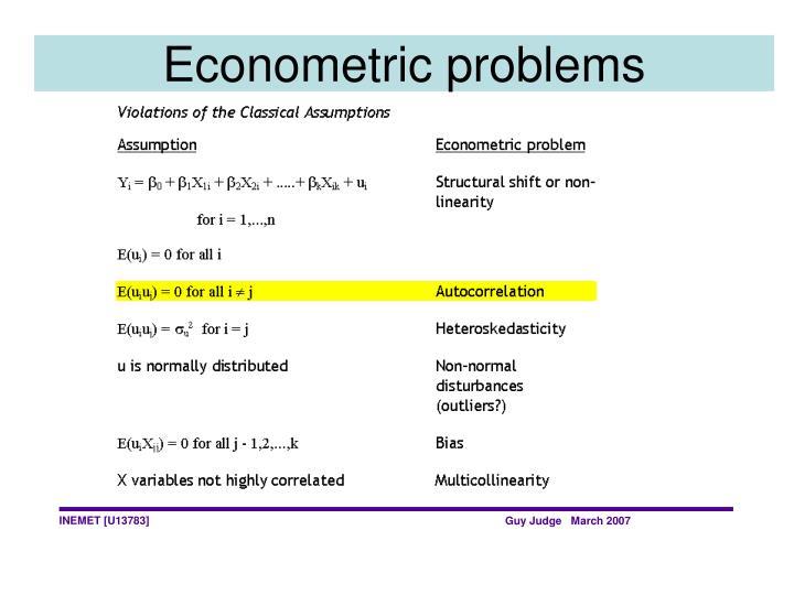 Econometric problems