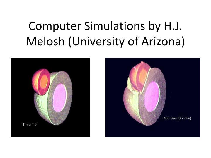 Computer Simulations by H.J. Melosh (University of Arizona)