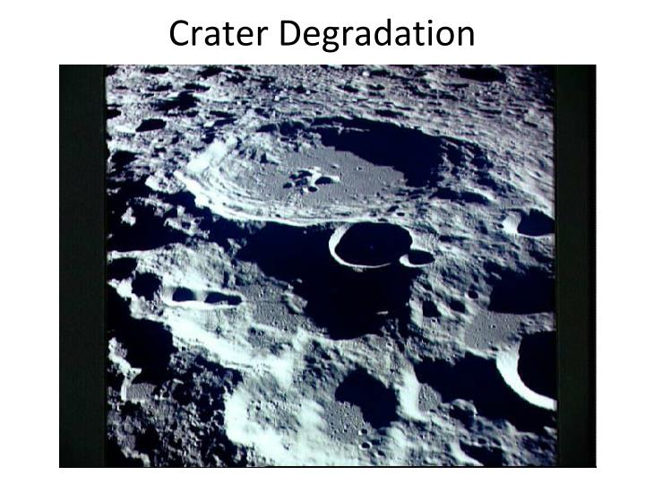 Crater Degradation