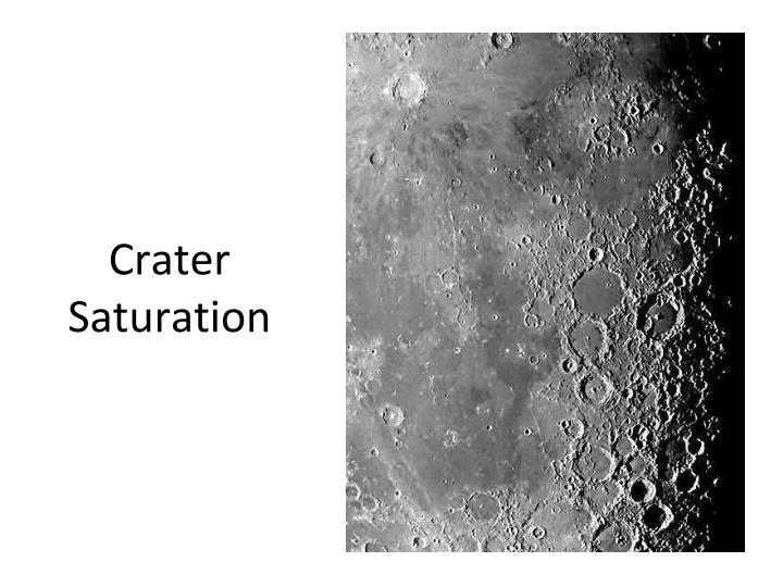 Crater Saturation