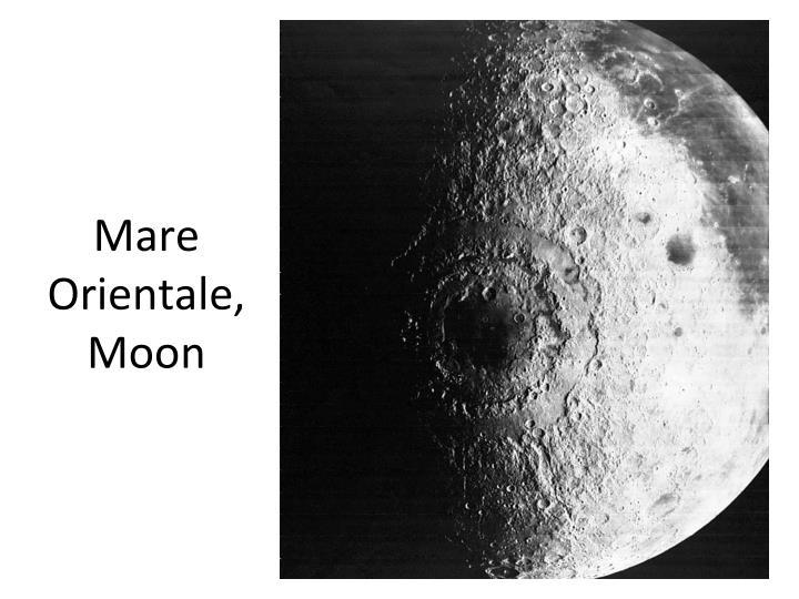 Mare Orientale, Moon