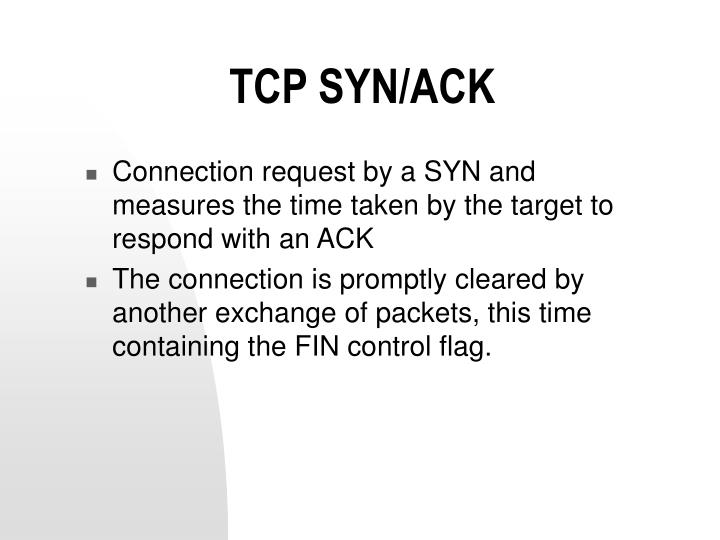 TCP SYN/ACK