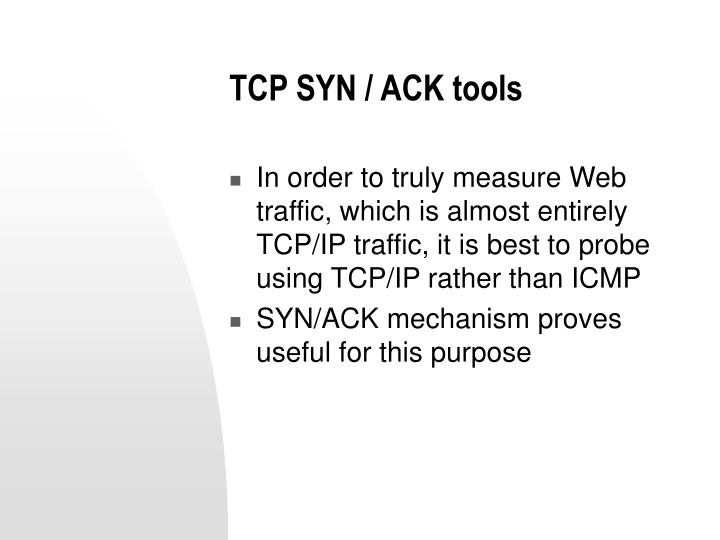 TCP SYN / ACK tools