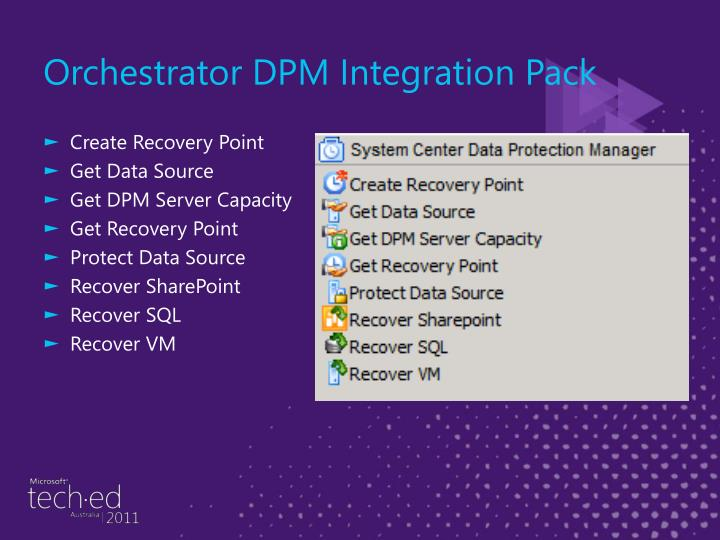 Orchestrator DPM Integration Pack