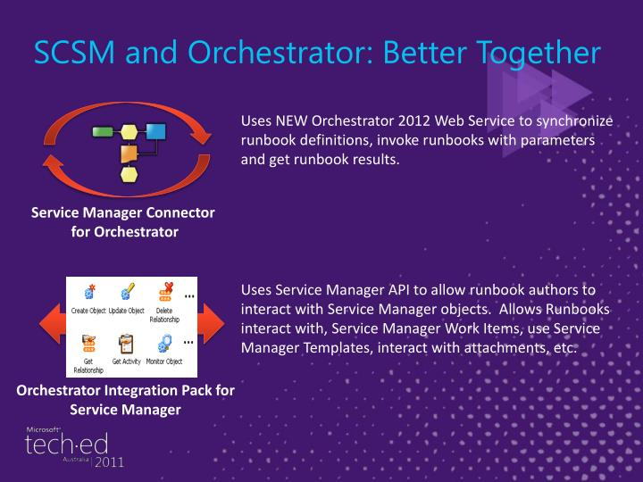SCSM and Orchestrator: Better Together