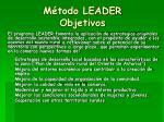 m todo leader objetivos