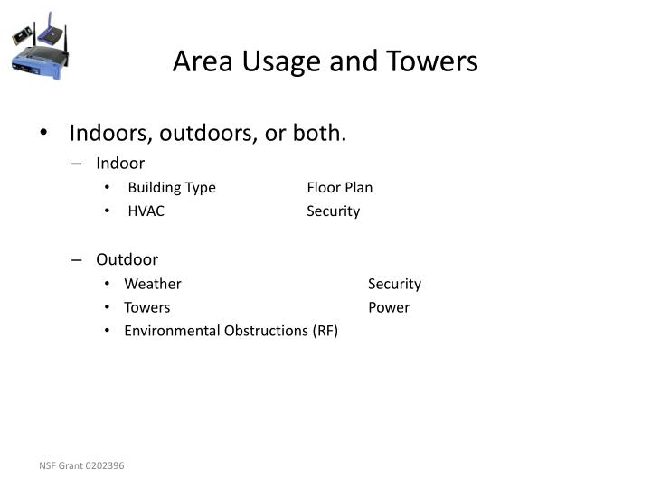 Area Usage and Towers