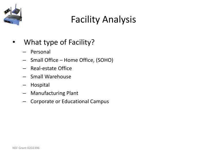 Facility Analysis
