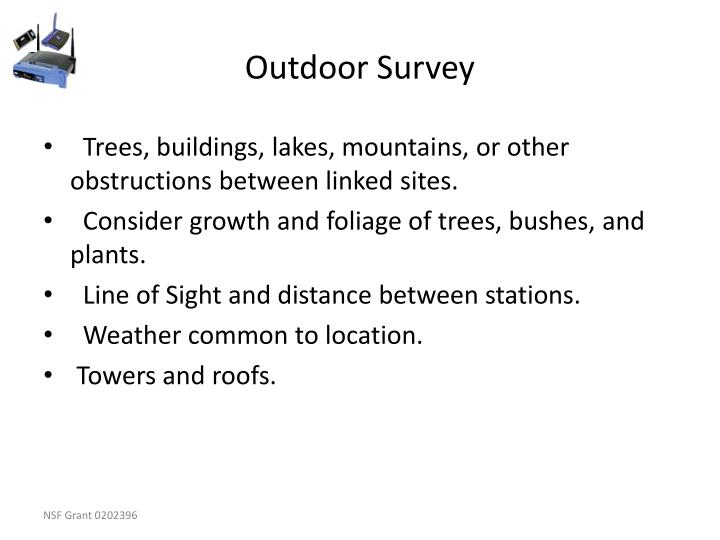 Outdoor Survey