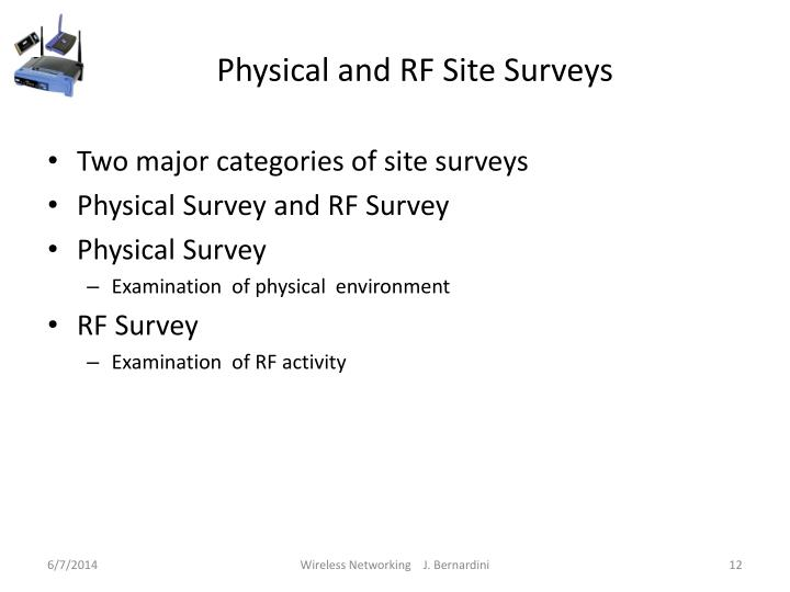 Physical and RF Site Surveys