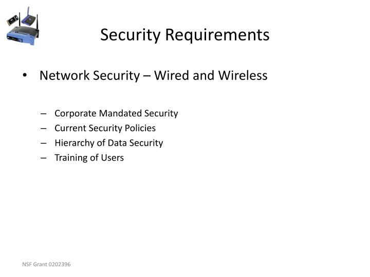 Security Requirements