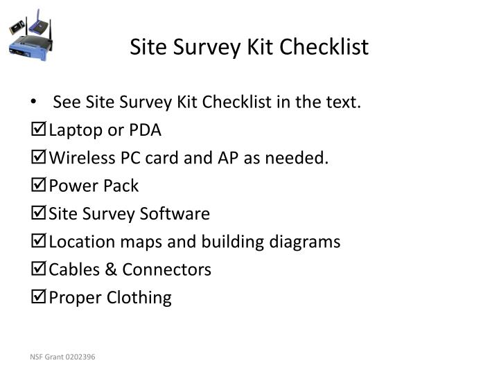 Site Survey Kit Checklist
