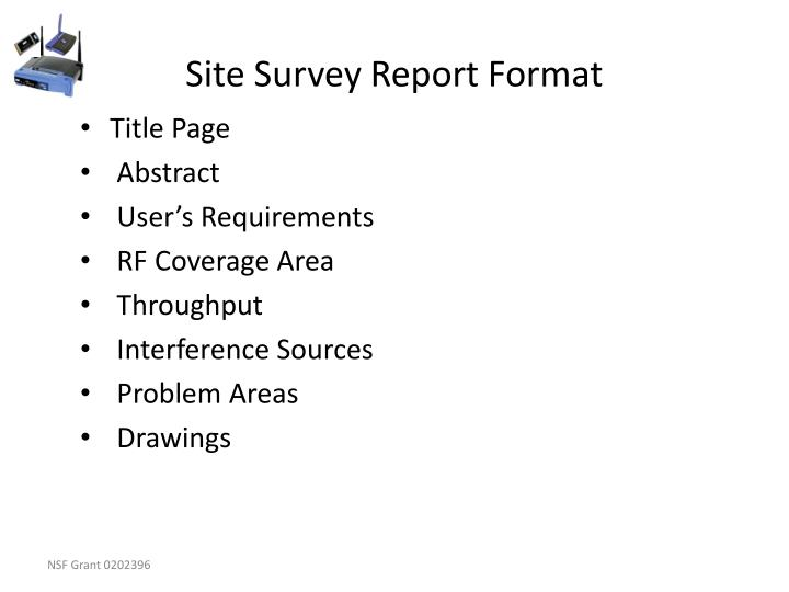 Site Survey Report Format