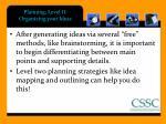 planning level ii organizing your ideas