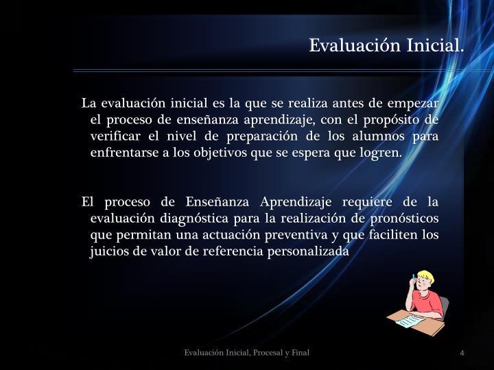 Evaluación Inicial.