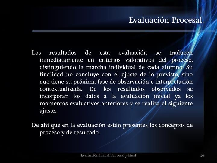 Evaluación Procesal.