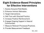 eight evidence based principles for effective interventions