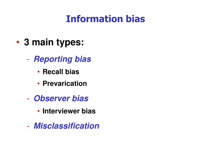 in a case-control study misclassification due to recall bias may be termed Field epidemiology manual british investigators in a case-control study may probe leading to a differential misclassification of disease recall bias.