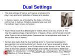 dual settings