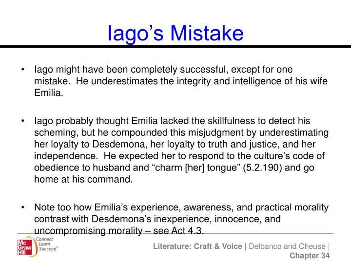 Iago's Mistake