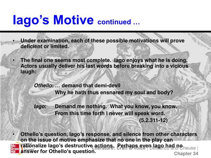 Iago's Motive
