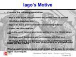 iago s motive