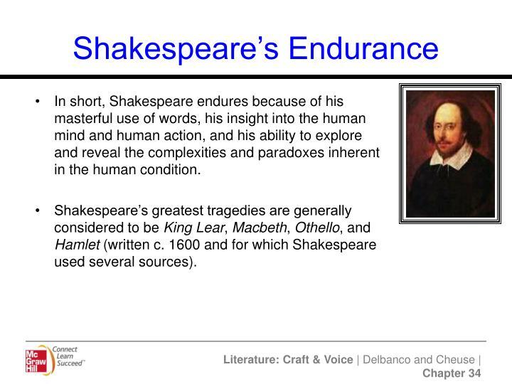 Shakespeare's Endurance