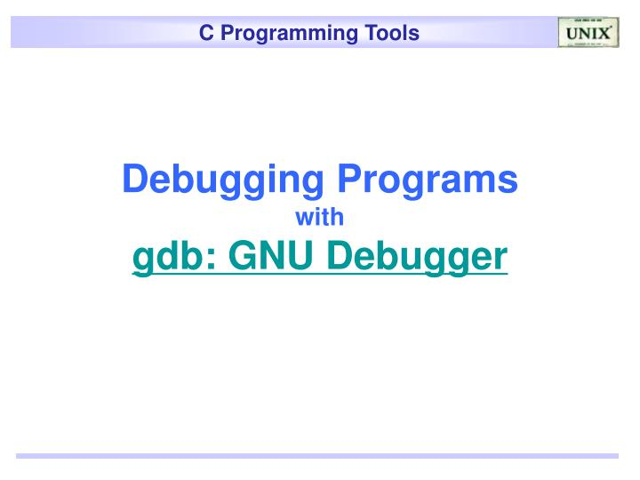 Debugging Programs