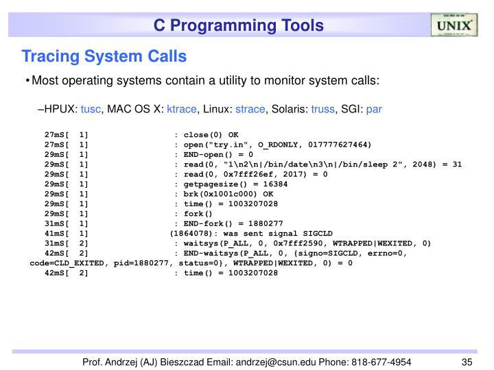 Tracing System Calls