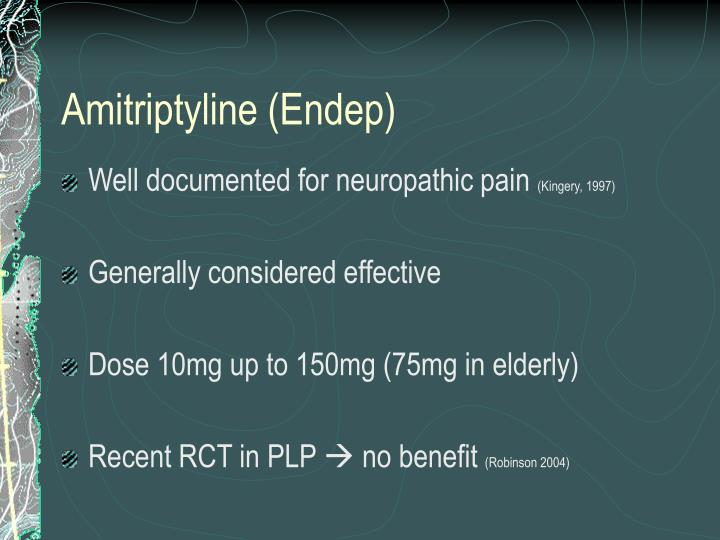 Amitriptyline (Endep)