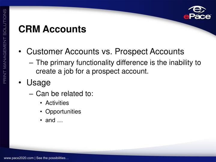 CRM Accounts